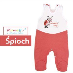 czerwono białe śpiochy dla niemowlaka z Mamatti