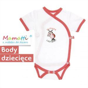 czerwone body dla dziecka Mamatti