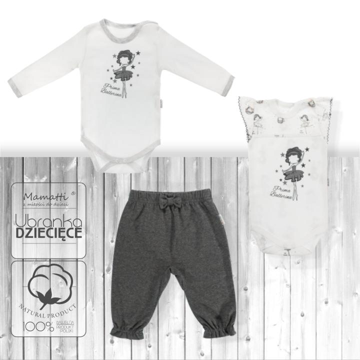 Modne ubranka dla noworodka dziewczynki od polskiego producenta z Wadowic