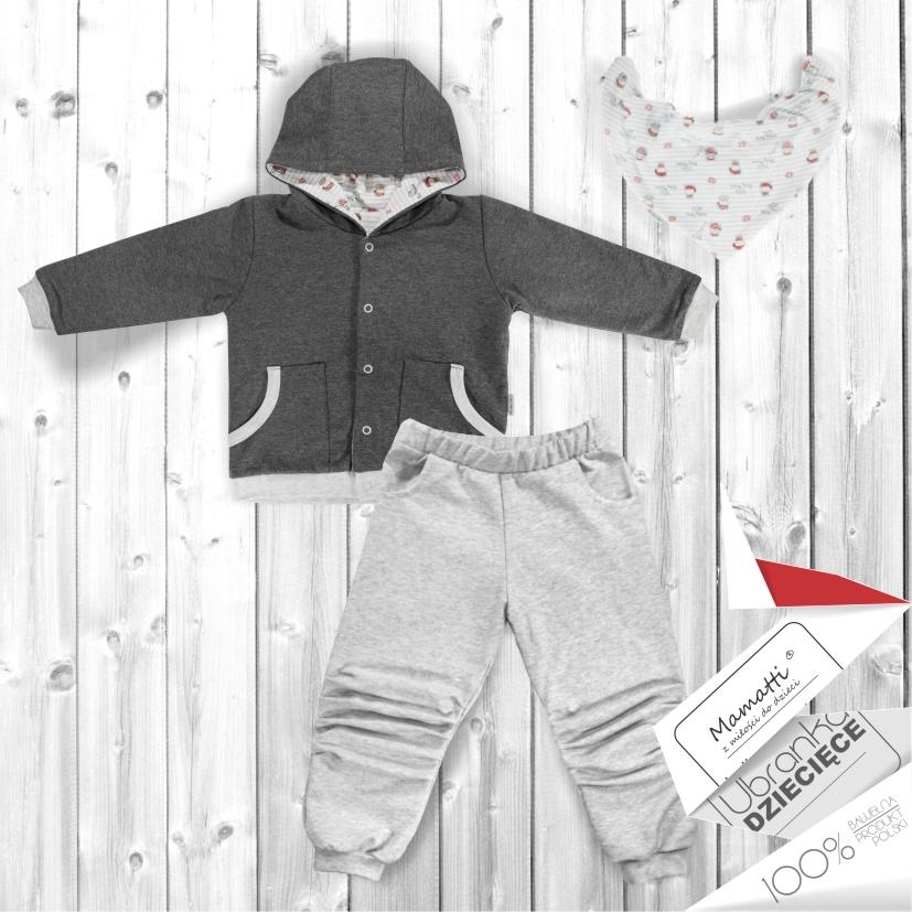 Bawełniane bluzy, body, spodnie, kaftaniki od polskiego producenta ekologicznej odzieży dziecięcej i niemowlęcej.