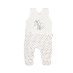 Kremowe dizajnerskie śpioszki dla noworodka dziewczynki na prezent. Wygodne i ekologiczne ubranka Mamatti.